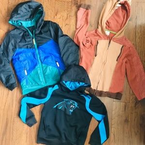 Bundle of three Boys Hoodies
